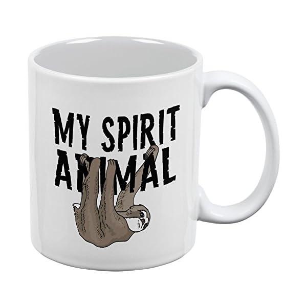 Sloth My Spirit Animal White All Over Coffee Mug -