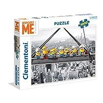 Clementoni-39370 Minions Los Pingüinos De Madagascar Puzzle 1000 Piezas, New York (39370)