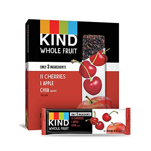 KIND Whole Fruit Bars, Cherry Apple Chia, No Sugar Added, Gluten Free, 1.2oz, 12 Count (formally Pressed by KIND) ()