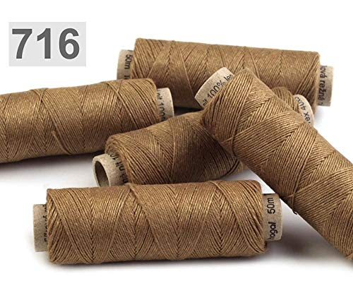 1pc Antique Bronze 100% Linen Thread 50m, Other Threads, Sewing, Haberdashery from Czech Beads Exclusive