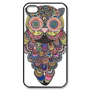 QJM Flowery Owl Pattern Design Plastic Hard Case for iPhone 6