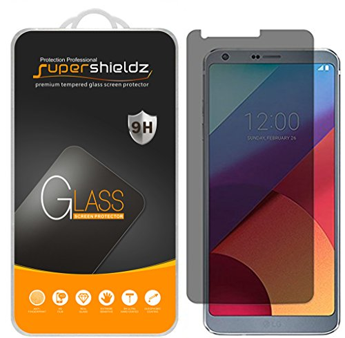 [2-Pack] Supershieldz for LG G6 (Privacy) Anti-Spy Tempered Glass Screen Protector, Anti-Scratch, Anti-Fingerprint, Bubble Free, Lifetime Replacement Warranty