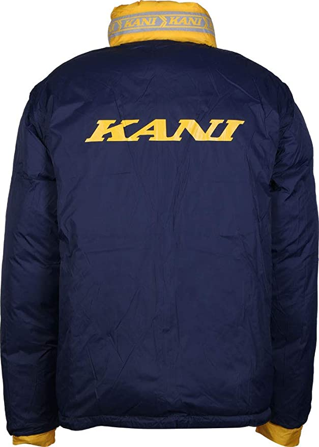 Karl Kani Bubble Chaqueta de Invierno Yellow/Blue: Amazon.es ...