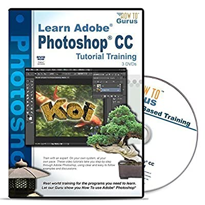 Learn Fast Adobe Photoshop CC Tutorial Training on 3 DVDs