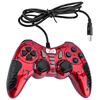 Gaming Wired Gamepad Controller Rii GP500 for PC Windows 98 XP 7 8 10 Games Playstation 3 STEAM Gaming with Joystick Dual Asymmetric USB Joy pad Handler (TURB 12 FIRE Buttons 4 AXLS)