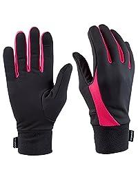 TrailHeads Elements Running Gloves - black/neon pink