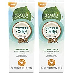 Seventh Generation Baby Diaper Cream with Soothing Coconut Care 4ounce, 2 Count
