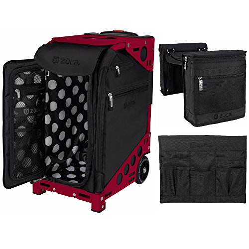 Zuca ''Oxford'' Pro Artist Case (Red) with 4 Utility Pouches and Stylist Kit: Beauty Caddy & Stylist Pouch Set by ZUCA