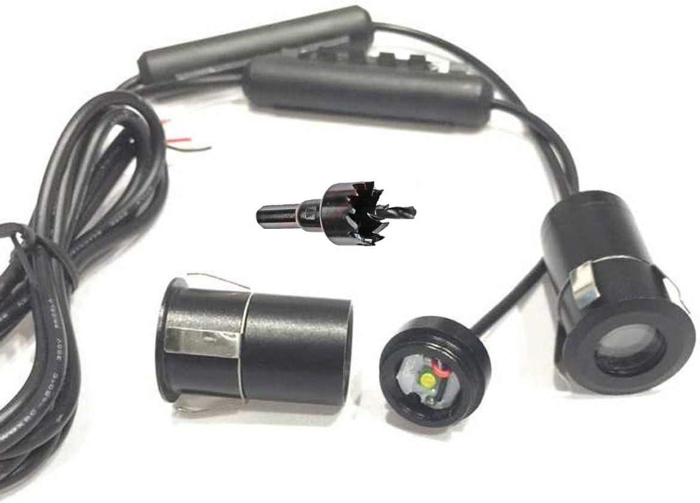 LED projecteur de voiture Punisher universel pour v/éhicule de 12V // No.142 VAWAR lumi/ères de porte /éclairage dentr/ée car LED bienvenue Logo voiture fant/ôme ombre bienvenue lumi/ère