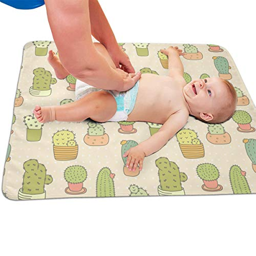 V5DGFJH.B Baby Portable Diaper Changing Pad Cactus Flowerpot Urinary Pad Baby Changing Mat 31.5