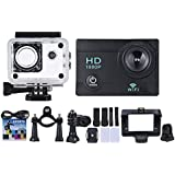 Walmeck Action Sports Camera 1080P WiFi Waterproof Sports Cam with 2 LCD 140° Wide Angle Lens for Outdoor Activities