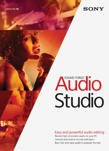 Sony Sound Forge Audio Studio 10- 30 Day Free Trial [Download] Audio Music Software