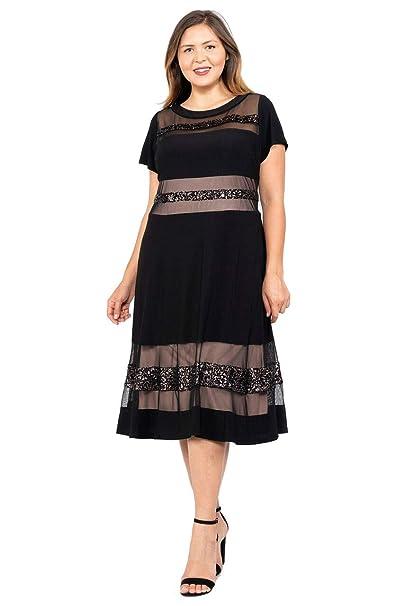 Amazon.com: R&M Richards - Vestido de cóctel, tamaño grande ...