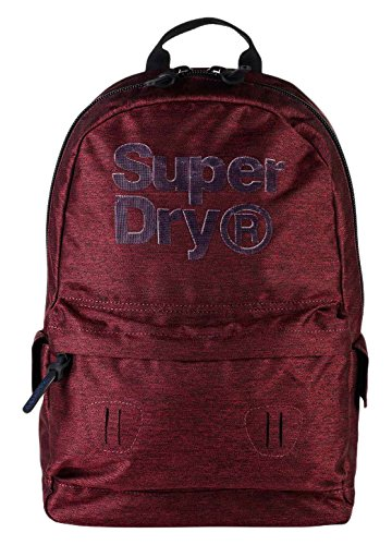 Superdry - Blast Montana, Mochilas Hombre, Rosso (Red/black), 30.0