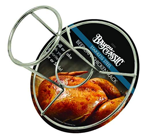 (Bayou Classic 0880-CS Stainless Steel Beercan Chicken Rack, Silver)