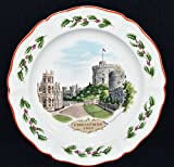 Wedgwood Queens Ware Christmas Plate - WINDSOR CASTLE c1980