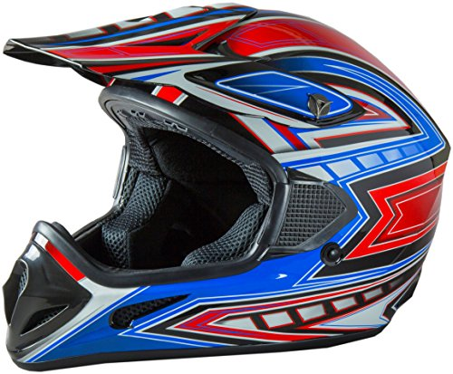 Fuel Helmets SH-OR3015 Graphic Off-Road Helmet, Multicolor, Medium Atv Motocross Motorcycle Helmet