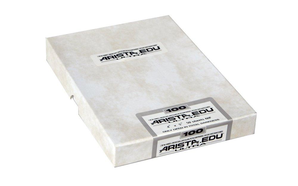Arista EDU Ultra 100 ISO Black & White Film, 4x5, 50 Sheets