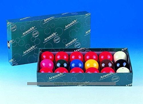 Aramith Snooker Balls (1 and 3/4 inch, 44mm, with 10 reds)