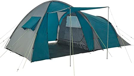 Onehertom 3/4 Person Camping Tent with Rooms, Family Size Tent with 2 Rooms Waterproof, Instant Cabin 4 Season Dome Blackout Tent, Double Layer, sreen Tent, Portable with Carry Bag, Casa De Campaña…