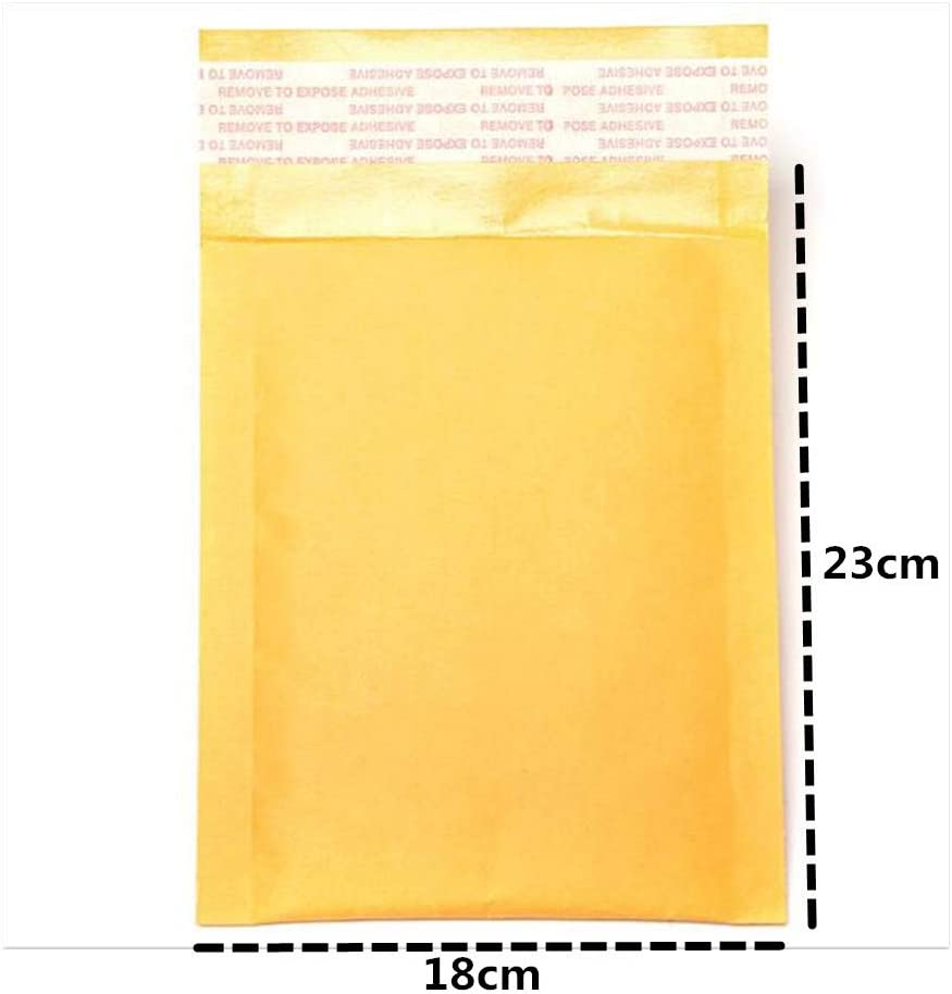 Lot de 10 enveloppes rembourr/ées Mailers Self Seal Papier Kraft Bulks Pack Bubble Pochettes Mailers 23 x 18cm jaune