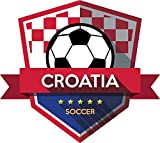 Croatia Flag National Soccer Team Badge Home Decal Vinyl Sticker 13'' X 12''