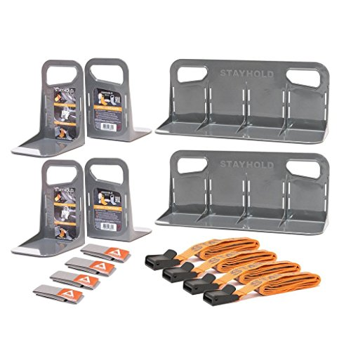 Stayhold Cargo & Trunk Organizer for Auto, SUV, Minivan & Boats, Ultimate Pack, Gray (Carpet Dividers)