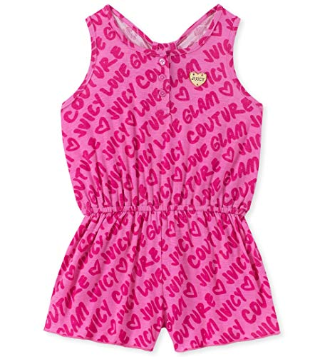 Juicy Couture Girls' Little Romper, hot Pink, - Jack Janie