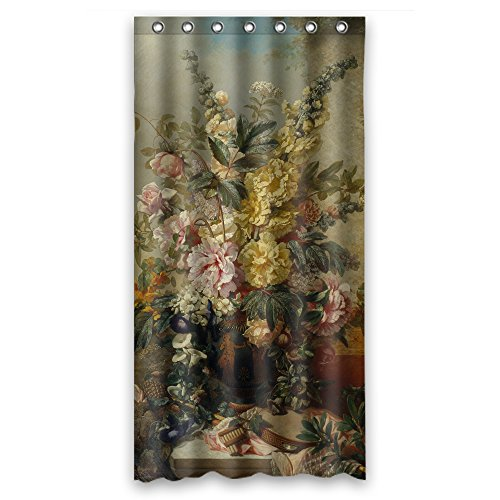 PILZOO Polyester Famous Classic Art Painting Flowers Blossoms Bathroom Curtains Width X Height / 36 X 72 Inches / W H 90 By 180 Cm Gift Or Decor For Father Girls Boys Kids Boys Girls. Du