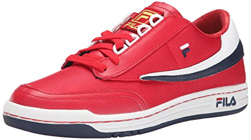 Men's Fila White Navy Classic Original Sneaker Tennis Red dqar0qn