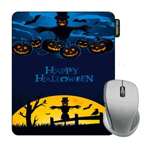 Cowcool Halloween Mouse Pad Deep Blue Happy Halloween Mouse Pads for Computers Laptop Gameing -