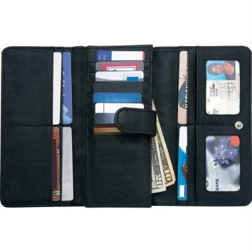 Embassy Ladies' Solid Genuine Leather Wallet with RFID (Embassy Solid Leather Purse)