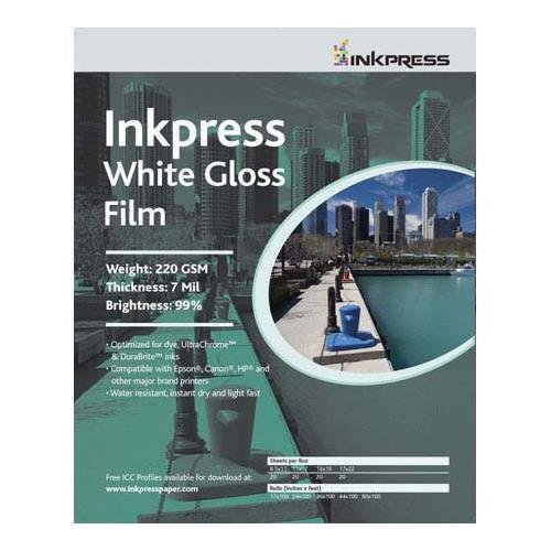 Inkpressホワイト光沢インクジェットフィルム17 x 50 ' Roll   B0010CKRY6