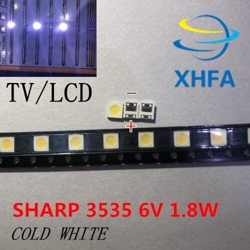 Jammas 1000pcs Sharp LED Backlight LCD TV 3535 3537 LED SMD Lamp Bead 1W 6V Cold White GM5F20BH20A