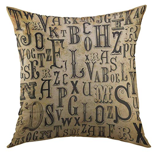 TOGEFRIEND Decorative Throw Pillow Cover for Couch Sofa,Black Walleye Fishing Bass Fish Club Emblem White Jump Lure Home Decor Pillow Case 18x18 -
