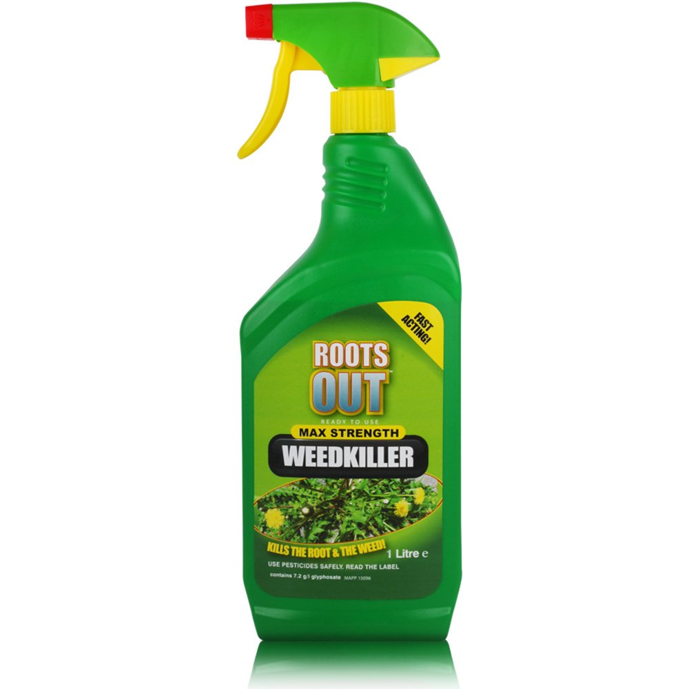 1L of Ready-to-use Roots Out Maximum Strength, Fast Acting Weed Killer. The Chemical Hut