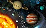 24'' Landscape Outer Space Scene Instant View SOLAR SYSTEM #2 Wall Sticker Room Decal Home Office Art Décor Den Kids Mural Man Cave Graphic SMALL