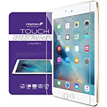 Apple iPad Mini 4 Tempered Glass Screen Protector, Fosmon [1 pack] TOUCH 0.33mm [ULTRA THIN | Shatter Proof | Oleophobic Coating] HD Clear Glass Screen Protector for iPad Mini 4