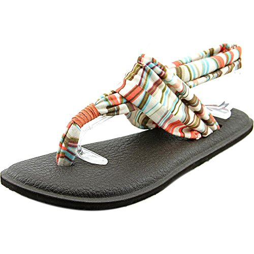 Sanuk New Yoga Sling 2 Prints Ivory/Spiced Coral Mod Geo 6 Womens Sandals
