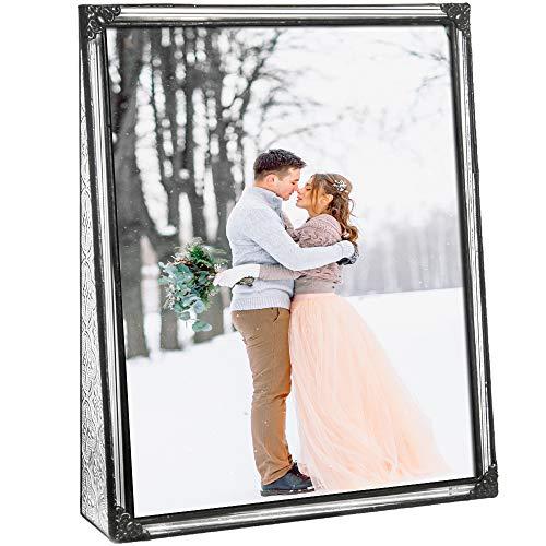 J Devlin Pic 360-81V Stained Glass Picture Frame Tabletop 8 x 10 Vertical Photo Frame Keepsake Wedding