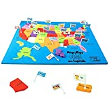 united states plastic puzzle - Imagimake: Mapology USA with Capitals- Learn USA States Along with Their Capitals and Fun Facts- Fun Jigsaw Puzzle- Educational Toy for Kids Above 5 Years