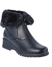 Womans Cold Winter Ankle Boots Warm Full Faux Fur Lining water resistant Anti-slip Shoes