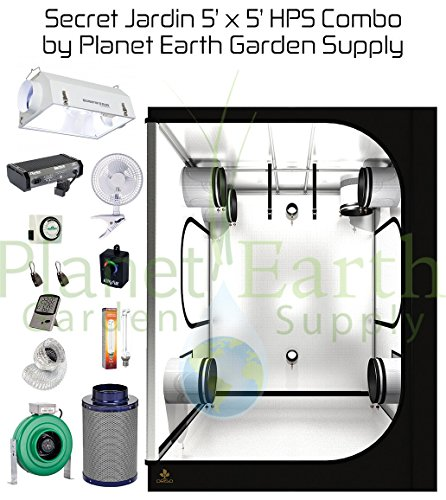 51b9eVfStML Secret Jardin Grow Tent (5' x 5') HPS Combo Package #6