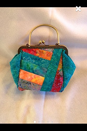 Handmade Quilted Handbags - Kisslock Quilted Handbag Purse Tote Clutch Batik