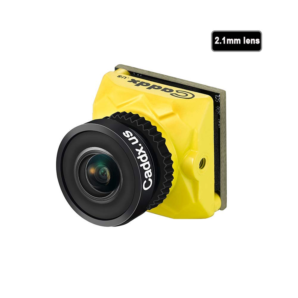 Caddx Ratel Newest FPV Camera 1/1.8'' Starlight HDR OSD 1200TVL 16:9 NTSC 2.1mm Lens for FPV Quadcopter Racing Drone (Yellow) by ACROTOR