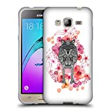 Official Monika Strigel Wolf Animals And Flowers Soft Gel Case for Samsung Galaxy J3