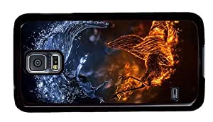 Hipster Samsung Galaxy S5 Case original Fire Ice Birds PC Black for Samsung S5