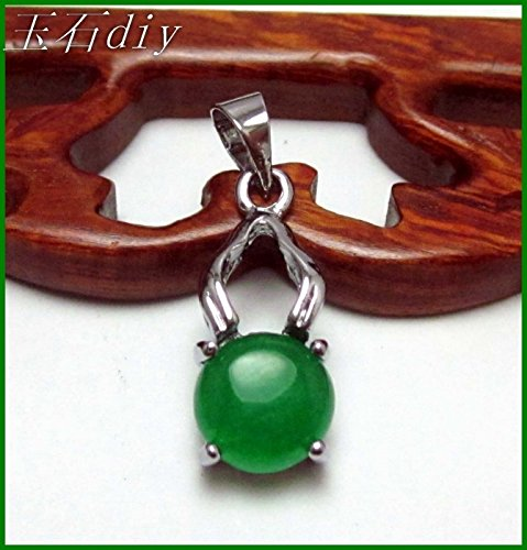 Copper-nickel alloy inlaid diamond Malay jade apple-shaped necklace pendant platinum