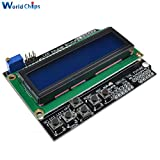 10Pcs/Lot 1602 LCD Keypad Shield LCD 1602 Module Display For Arduino ATMEGA328 ATMEGA2560 Raspberry Pi UNO Blue Screen