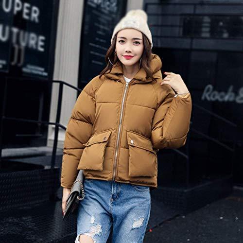 Taille Épaissir Chaud Survêtement Coton Hiver Oudan Café Capuche Femmes Manteau Puffer Jacket Lâche Large Rembourré Décontracté coloré c41wZqC8xw